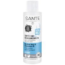Sante  Sanfte 3in1 Reinigungsmilch Bio-Aloe Vera & Chiasamen-Öl 125ml